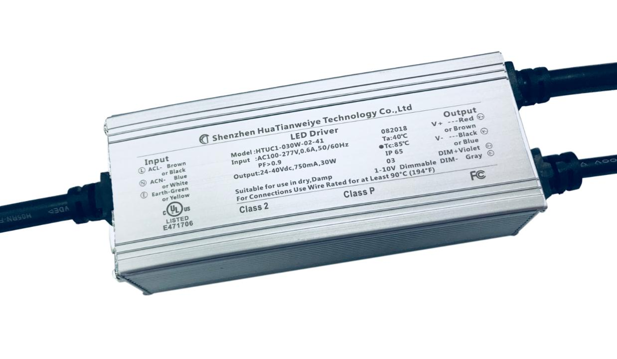 30W IP65 1-10V Dimming driver UL