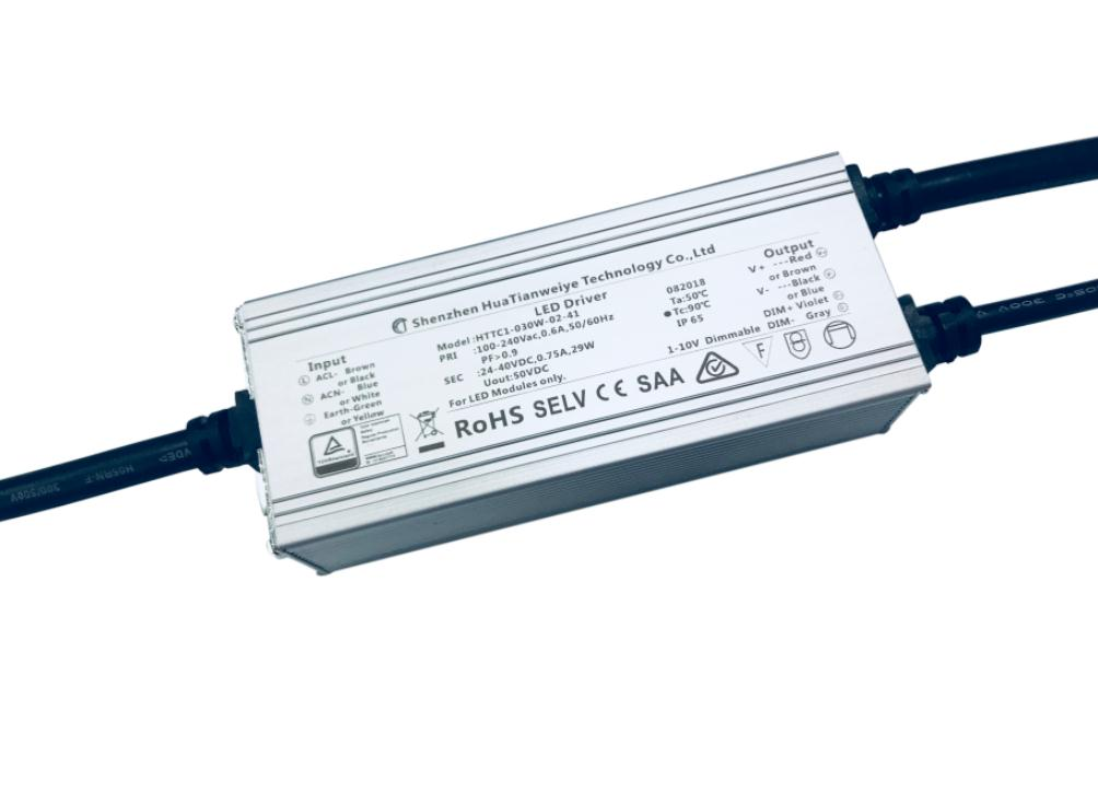 30W IP65 1-10V dimming driver