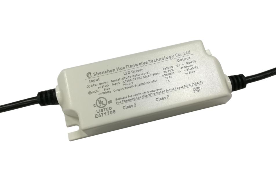 40W Indoor led constant current driver with UL cUL fcc