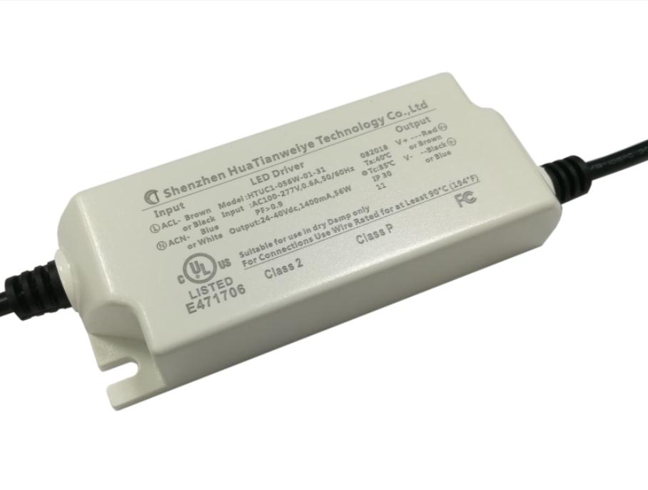 50W Indoor led constant current driver with UL cUL fcc