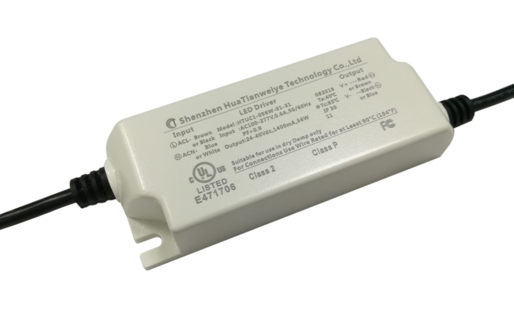 60W Indoor led constant current driver with UL cUL fcc