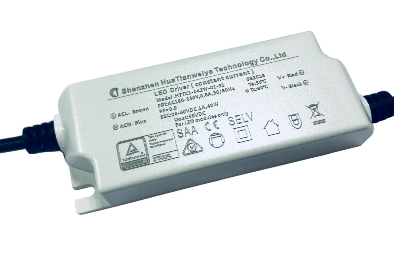 40W Indoor led constant current driver with TUV SAA CE