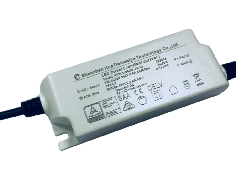 60W Indoor led constant current driver with TUV SAA CE 1400mA