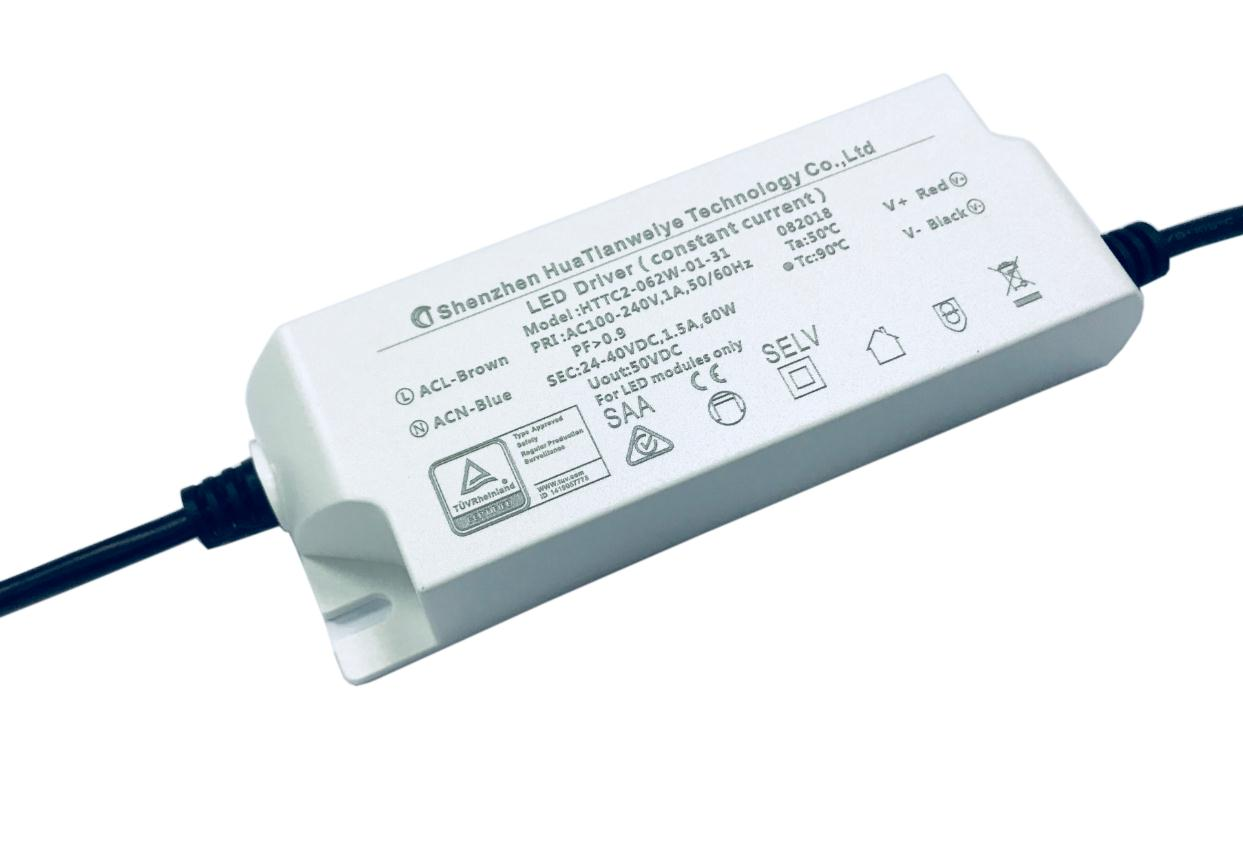 60W Indoor led constant current driver with TUV SAA CE 1500mA